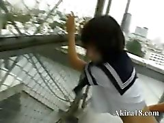 Public sex from korean on the tower