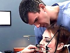 charming BDSM anal action in gangbang