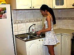Teenagern Analysierte - in der Küche Arschfick