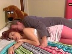 Horny Redhead Teen Seduces Stepdaddy For Good Fuck