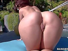 Jayden James displays her bubble Ass and tatas in the sun