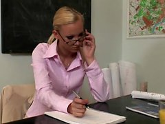 Blonde secretary gets her ass fucked