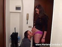 Mariana Cordoba gets her massive blowjob
