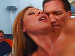 Busty wife pussy banged in front of husband
