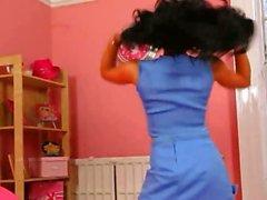 Brunette pornstar in sexy nylons teasing
