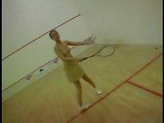 french Beurette slut double-penetrated in squash