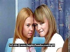 Bethany ja Ania ja Agathe lesbo teini Babes kolmikko orgioihin
