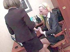 Crossdressers office twosome
