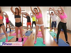 FitnessRooms Barbara Bieber has a sexual workout after gym class