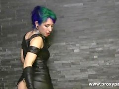 Proxy Paige in tight Outfit gapes her Ass with Huge Toy and prolapses