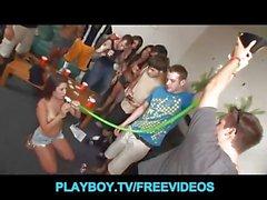 Crazy college house party escaltes into hardcore orgy