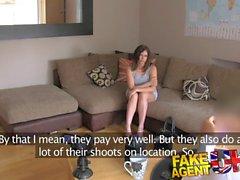 FakeAgentUK Big facial for web cam girl