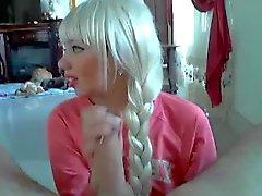 Blonde with a scythe