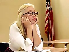 Nerdy teen fucked by her sexy teachers Dana and Dana