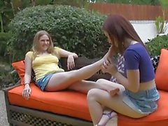 Lesbian Foot Licking Fun