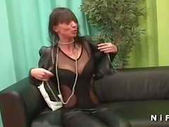 dates25com Anal casting of a skinny mature in