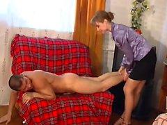 Nylon pantyhose brunette babe loves teasing