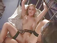 British slut Michelle B gets fucked in stockings in jail