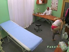 Euro patient sucking cock of doctor