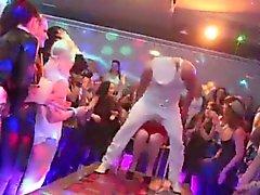 Frisky Süssen bekommen absolut verrückt und nackt bei Hardcore-Party