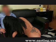 Black-hair MILF beauty loves a creampie