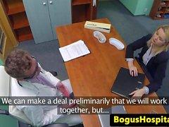 salesagent tettona cumsprayed sul medico reception