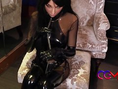 slaveri drottning läder catsuit Japans bebe gummi den Cosplay