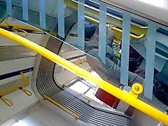 flashing dick in a tram-02
