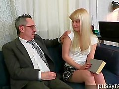 Wet chick banged by hard cock