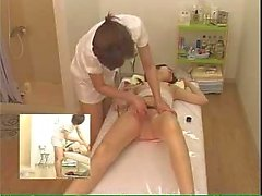 Massage with oil for Japanese girl
