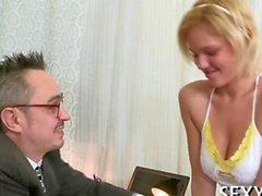 Having fun with her nice nipples