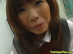 Japanese schoolgirl with bigtits gets fucked