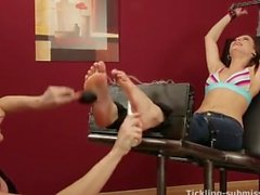 Helpless Angelica Tickled