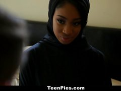 TeenPies - Ebony Hijab Teen Blow Job