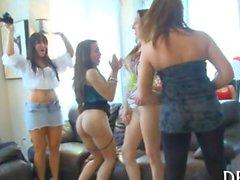 Dancers showing ladies swinging dick