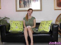 Brit teen touches herself