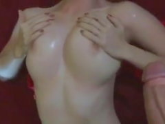 Hot gf with nice tits gets cum all over them