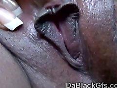 Black girlfriend drives white boyfriend insane with blowjobs