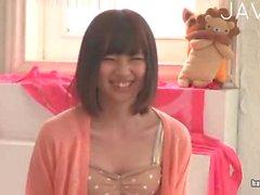Petite Japanese gets nude