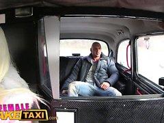 Female Fake Taxi Bodybuilder makes busty blonde cum