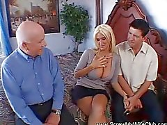 Absolutely amazing tits on blonde swinger