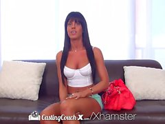 CastingCouch-X - Brunette Rahyndee James first time fuck