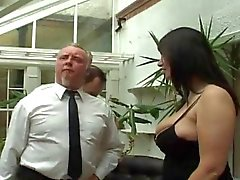 Chubby British Big Boobs Threesome