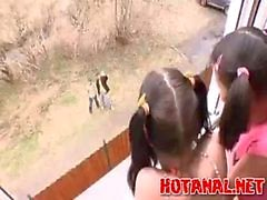Two Teen Girls Gets Hard Sex Lession