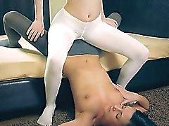 enchanting hot lesbians in pantyhose