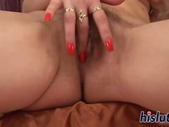 Redhead mature slag has her pussy rammed