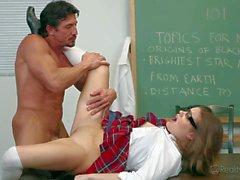 Schoolgirl Ashlynn Leigh gets her tight Teen pussy poked