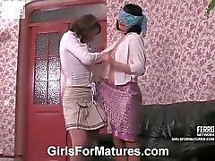 Rita&Gloria vivid lesbian mature action
