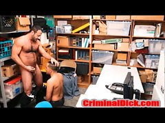 Bear in Uniform bareback fucks Straight Criminal