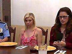 Busty lesbian gets eaten